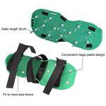 Aolvo Aérateur de gazon, Chaussures, nouvelle version Aérateur de gazon Sandales Sandales à pointes très résistant avec Alliage de zinc Buckles- Taille unique pour aérer votre pelouse ou cour de la marque image 3 produit