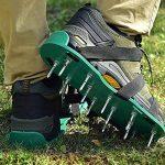 Aolvo Aérateur de gazon, Chaussures, nouvelle version Aérateur de gazon Sandales Sandales à pointes très résistant avec Alliage de zinc Buckles- Taille unique pour aérer votre pelouse ou cour de la marque image 2 produit