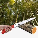 Aramox Scie d'élagage à lame droite Portable Scie à main pliante avec lame incurvée pour tailler les arbres, couper les branches, camper, défricher les sentiers forestiers. de la marque Aramox image 4 produit