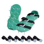 Aérateur de Gazon Spike Chaussures,Sandales d'Aérodrome avec 3 Sangles Réglables, Taille Universelle pour Aérer Votre Pelouse Cour EU-SPH-035 de la marque SeeParts image 2 produit