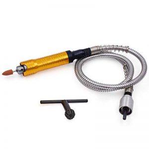 Arbre Flexible - GOXAWEE Tige Flexible & Avancé Manche avec Mandrin pour Perceuse/ Meuleuse électrique/ Accessoires d'Outils Rotatifs (1100mm, 0.5-6mm Mandrin) de la marque GOXAWEE image 0 produit