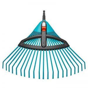Balai à gazon réglable Combisystem de GARDENA : balai avec dents élastiques réglables en plastique, largeur de travail 35 à 52 cm, travail sans oscillation (3099-20) de la marque Gardena image 0 produit