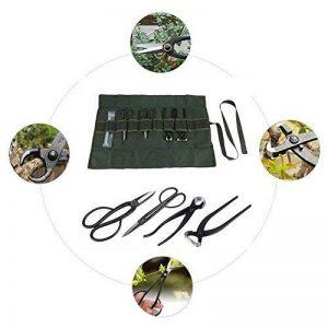 Bonsaï Outil Kit, 4 Pcs Branche Coupe Ciseaux Pinces Jardin Outils De Coupe Heavy Duty avec Pierre À Aiguiser En Roll-up Poche de la marque Zerodis image 0 produit
