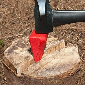 coin fendeur eclateur pour buche bois en métal couleur rouge 17 cm de la marque Deuba image 0 produit