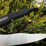 Davaon® Pro Jardin Cisailles à haie - moins d'efforts - tranchant - Coupe facile - revêtement antiadhésif - - Le meilleur pour les haies - Outil de jardinage longue durée d'élagage de la marque Davaon image 3 produit