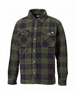 Dickies - Chemise Canadienne Portland Homme - L, Plaid Vert de la marque Dickies image 0 produit