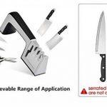 Ebshow Aiguiseur de couteaux et ciseaux de cuisine professionnels aiguisoir 4en 1manuel Système 3Stage couteau à aiguiser Outil de la marque EBSHOW image 1 produit