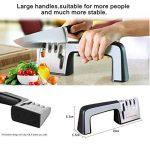 Ebshow Aiguiseur de couteaux et ciseaux de cuisine professionnels aiguisoir 4en 1manuel Système 3Stage couteau à aiguiser Outil de la marque EBSHOW image 2 produit