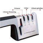 Ebshow Aiguiseur de couteaux et ciseaux de cuisine professionnels aiguisoir 4en 1manuel Système 3Stage couteau à aiguiser Outil de la marque EBSHOW image 3 produit