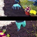 """Eiito gants jardinage femme taille 6-7.5"""" (Griffe droite-2 paires petite), gants de jardin griffe jardin pour Creuser et Plantation ur Jardiniers gant de sécurité travail de la marque Eiito image 4 produit"""