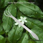 Ensemble de râteau à dents en acier inoxydable à 3 griffes Bonsai Tools avec poignée ergonomique pour les plantes de jardinage de la marque Zerodis image 3 produit