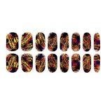 Evtech(tm) 4 Pcs Colorful Gradient Nail Polish Strips 16 Stickers amphidromes ongles Strips Nail Art Sticker Conseils Feuille Transférez Fashion Style Glitters Nail Art outil Nail Sticker de la marque EVTECH image 1 produit