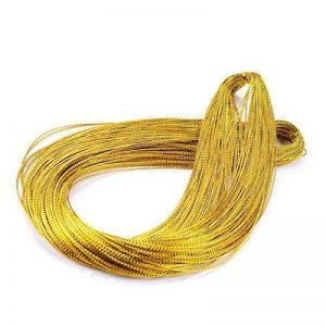Fil d'or,328 pieds fil d'or torsion cravates pour la ficelle de Noël, corde épaisse de bijoux de corde de polyester, bricolage Craft ficelle et chaîne d'emballage (1 mm) de la marque jijAcraft image 0 produit