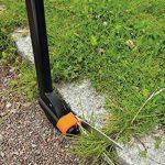 Fiskars Cisaille à gazon longue portée, Mécanisme anti-bourrage Servo-System, Longueur: 100 cm, Lames en acier/Poignée et manche en plastique renforcé de fibre de verre, Noir, GS46, 1000590 de la marque Fiskars image 1 produit