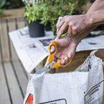 Fiskars Ciseaux de jardin lames striées, Longueur: 18 cm, Lames en acier inoxydable/Poignées en plastique, Orange, Classic, S92, 1000555 de la marque Fiskars image 2 produit