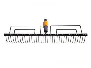 Fiskars Râteau à gazon à 35 dents, Tête d'outil QuikFit, Largeur: 57 cm, Acier au carbone, Noir, QuikFit, 1000656 de la marque Fiskars image 0 produit