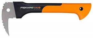 Fiskars Sapie, Longueur: 37 cm, Lame en acier trempé/Manche résistant en fibre de verre, Étui de rangement et de transport inclus, Noir/Orange, WoodXpert, XA2, 1003622 de la marque Fiskars image 0 produit