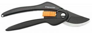 Fiskars Sécateur à lames franches, Revêtement antiadhésif des lames en acier haute qualité, Longueur: 20 cm, Diamètre de coupe: 2,2 cm, Noir/Orange, SingleStep, P26, 1000567 de la marque Fiskars image 0 produit