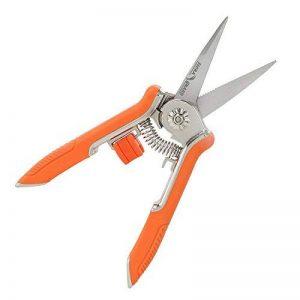 FLORA GUARD 16,5cm Micro-tip Sécateur jardinage Main Sécateur Ciseaux de coupe en acier inoxydable avec orange de la marque FLORA GUARD image 0 produit