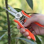 FLORA GUARD 16,5cm Micro-tip Sécateur jardinage Main Sécateur Ciseaux de coupe en acier inoxydable avec orange de la marque FLORA GUARD image 4 produit
