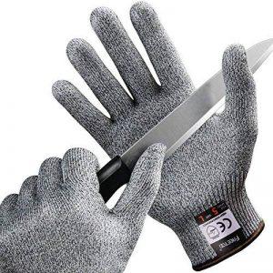 FREETOO Gants Anti-Coupure Protection De Cuisine Bricolage- Résistant, Souple, Flexible, Antidérapant, Lavable Et Vert Pour Aliments-- L de la marque FREETOO image 0 produit