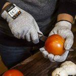 FREETOO Gants Anti-Coupure Protection De Cuisine Bricolage- Résistant, Souple, Flexible, Antidérapant, Lavable Et Vert Pour Aliments-- L de la marque FREETOO image 4 produit