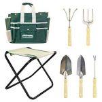 GardenHome Tabouret de Jardinage Pliable avec 5 Outils de Jardinage de la marque GardenHome image 1 produit