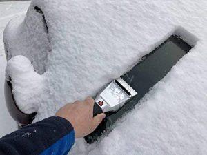 Grattoir à glace et pelle à neige chauffant pour pare-brise de voiture - 12V - Double usage - Qualité supérieure - Se branche sur la prise allume-cigare - Pour la sécurité routière de la marque WOLFTEX image 0 produit