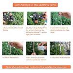 GreenKit Outil de Jardinage Sécateur à Jardin Ciseaux à Plante Sécateur à Greffer avec 3 Lames pour Couper Branches d'Arbres Fruitiers, Fleurs et Plantes + Ruban à Greffer de la marque GreenKit image 3 produit