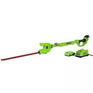 Greenworks Taille-haie sans fil sur batterie sur perche longue portée 24V Lithium-ion avec batterie 2Ah et chargeur - 2200207VA de la marque Greenworks Tools image 0 produit