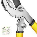 Grüntek Petite Cisaille coupe branches GRIZZLY 470 mm, Cisaille à enclume avec système à double crémaillère GEAR DRIVE. Élagueur et Sécateur 2 en 1 !! de la marque Grüntek image 3 produit