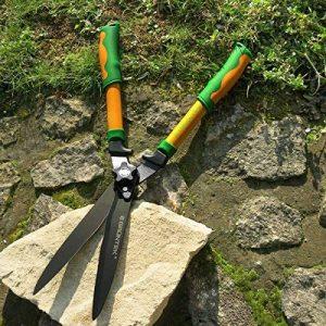 GRÜNTEK Cisailles à Haies - BROCHET en téflon 560mm, taille haie et arbustes avec lame courbée et double revêtement en téflon. Prix de lancement. de la marque Grüntek image 0 produit