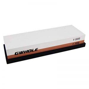 GWHOLE Pierre à Aiguiser, Pierre à Affûter Double Face Grain 3000/8000 avec Support Antidérapant en Silicone de la marque GWHOLE image 0 produit