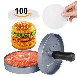 Gwhole Presse à Burger Steak Haché + 100 Disques de Cire - Diamètre 11.5cm Antiadhésif en Aluminium de la marque Gwhole image 0 produit