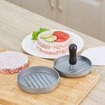 Gwhole Presse à Burger Steak Haché + 100 Disques de Cire - Diamètre 11.5cm Antiadhésif en Aluminium de la marque Gwhole image 4 produit
