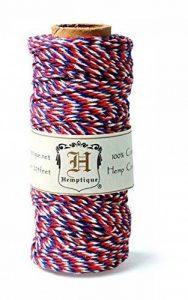 Hemptique Bobine de corde de chanvre panaché 20# 205 pieds/Pkg-Americana de la marque Hemptique image 0 produit