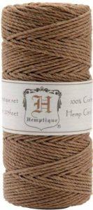 Hemptique Chanvre cordon bobine 20# 205 pieds/Pkg-Light Brown de la marque Hemptique image 0 produit