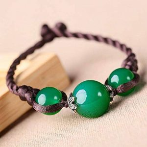 HRCxue Le bracelet original bijoux ethniques Chine vent bijoux retro-arts vert simple Couple main ficelle Femme de la marque HRCxue image 0 produit