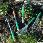 Jardinion 8 Outils de jardinage en metal/aluminium avec poignee telescopique Argent/ Vert STK de la marque Jardinion image 1 produit