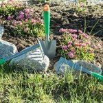 Jardinion 8 Outils de jardinage en metal/aluminium avec poignee telescopique Argent/ Vert STK de la marque Jardinion image 3 produit