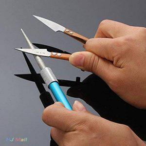 Jiayuane Diamant stylo couteau aiguiseur de poche professionnel affûtage pierre pêche en plein air (bleu) de la marque Jiayuane image 0 produit
