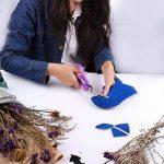 JTENG Ciseaux Cranteurs Ciseaux Couture Lame en Dents de Scie Zigzag Artisanat en Acier Inoxydable pour Tissu 23,5cm/9 pouces (Rose et Violet) de la marque JTENG image 1 produit
