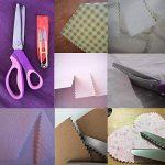 JTENG Ciseaux Cranteurs Ciseaux Couture Lame en Dents de Scie Zigzag Artisanat en Acier Inoxydable pour Tissu 23,5cm/9 pouces (Rose et Violet) de la marque JTENG image 4 produit