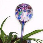 KAMIERFA Lot de 3 Arrosoir multicolores Automatique Mini-Doseurs Arrosage des Plantes en Verre avec Forme Sphérique Bleu + Vert + Rose de la marque KAMIERFA image 2 produit