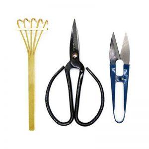 Kebinfen Kit Outils de Ciseaux Bonsaï - Ciseaux d'élagage, Ciseaux de feuilles et bourgeons, Râteau en Bambou - Set de 3 de la marque Kebinfen image 0 produit