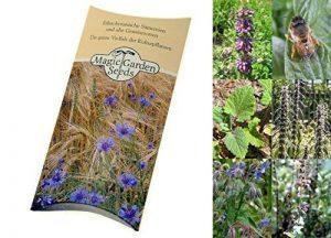 Kit de graines: 'Plantes et fleurs mellifères pour des abeilles', semences de 5 variétés de plantes à fleurs connues pour attirer les abeilles, le cadeau parfait pour tous les apiculteurs et cultivateurs de fruits de la marque Magic Garden Seeds image 0 produit