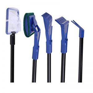 Kit de nettoyage 5 en 1 pour aquarium NUOLUX, râteau de gravier, outil de nettoyage d'algues. de la marque NUOLUX image 0 produit