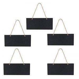 LEORX Ardoise Tableau Noir En Bois Suspendu - 5 pièces de la marque LEORX image 0 produit