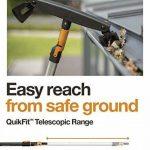 Manche télescopique pour têtes d'outils QuikFit, Longueur: 1,4-2,4 m, Aluminium, Noir/Orange, QuikFit, 1000666 de la marque Fiskars image 4 produit