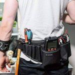 Navaris sacoche à outils avec fermeture à boucle - Sac pour outils variés avec plusieurs compartiments - Ceinture porte-outils en noir et gris de la marque Navaris image 1 produit